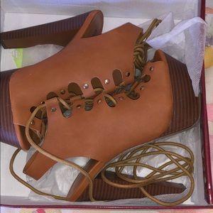 Chestnut platform heels
